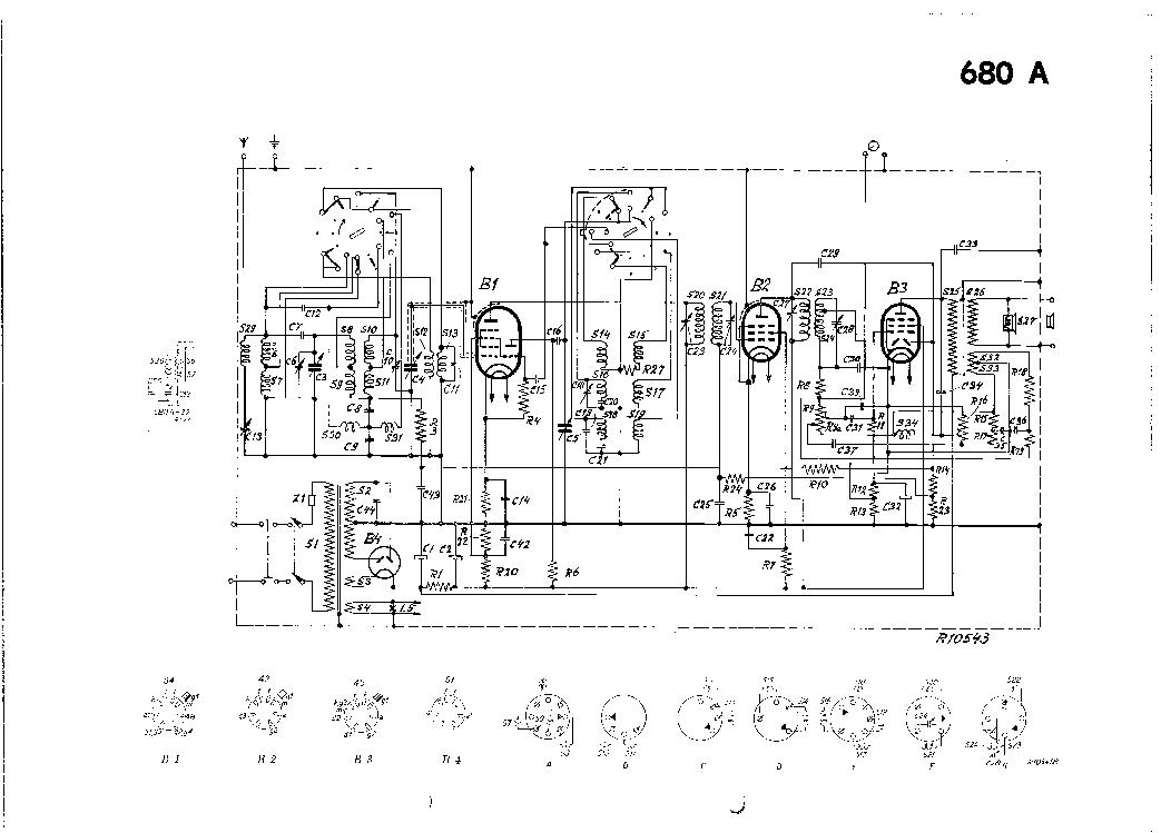 PHILIPS 680A VINTAGE RADIO SM Service Manual download