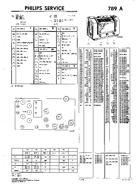PHILIPS 789A RADIO 1940 SM Service Manual download