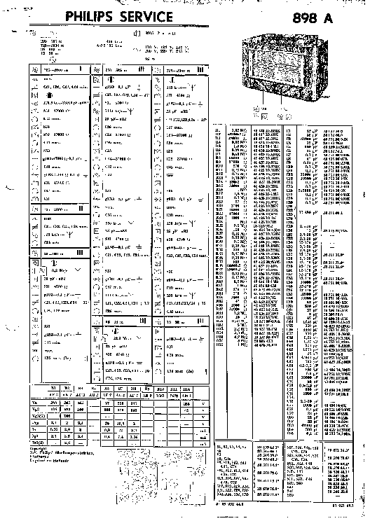 PHILIPS 898A AC SUPER RADIO 1936 SM Service Manual