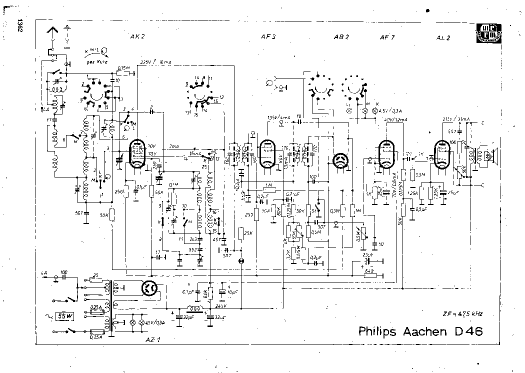 PHILIPS AACHEN-D46 SCH Service Manual download, schematics