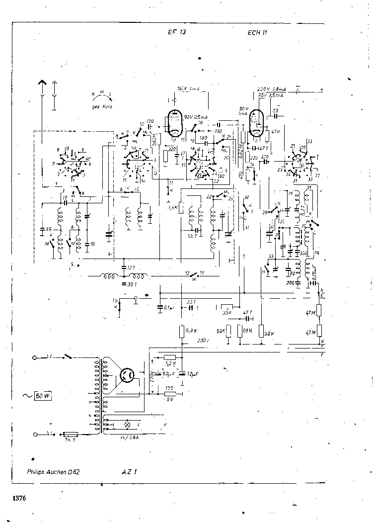PHILIPS AACHEN-D62 SCH Service Manual download, schematics