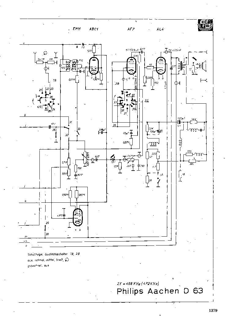 PHILIPS AACHEN-D63 SCH Service Manual download, schematics