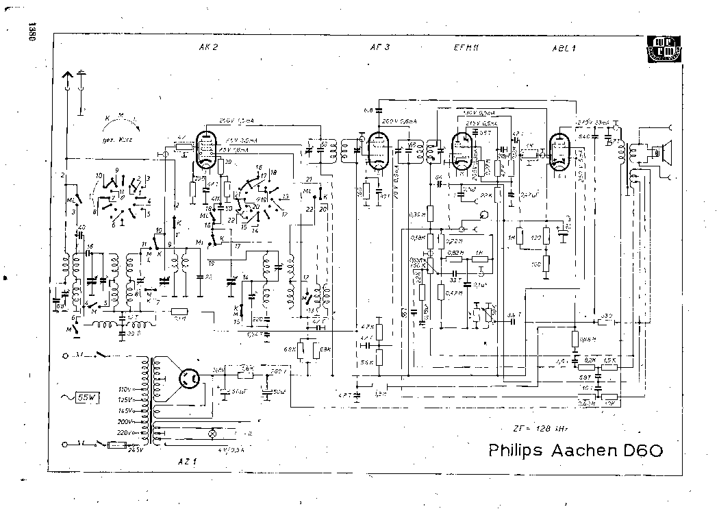 PHILIPS AACHEN D60 RADIO SCH Service Manual download