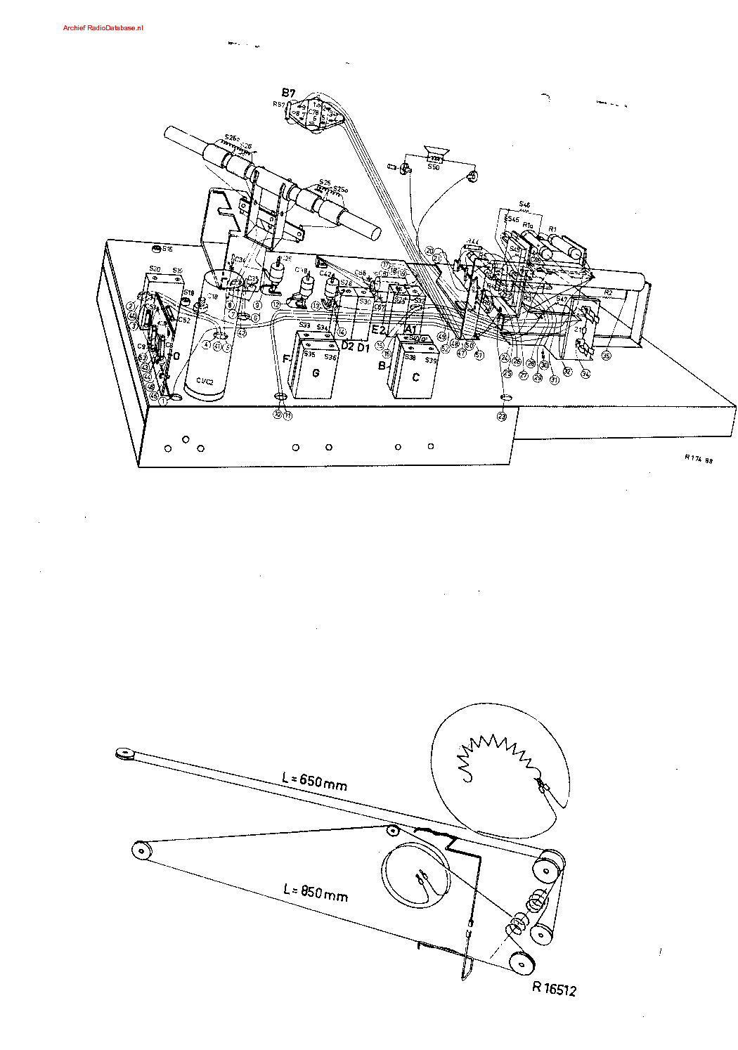 PHILIPS B3X82U Service Manual download, schematics, eeprom