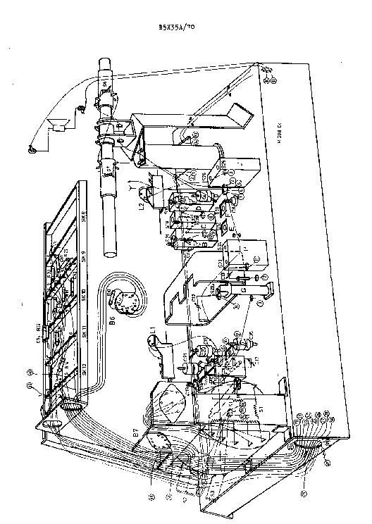PHILIPS B5X35A Service Manual download, schematics, eeprom