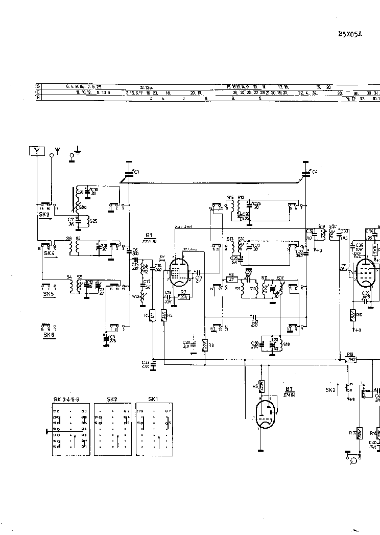 PHILIPS B5X85A Service Manual download, schematics, eeprom