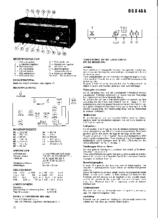 PHILIPS B6X43A Service Manual download, schematics, eeprom