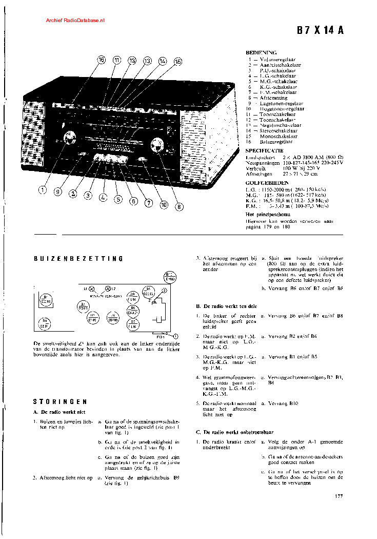 PHILIPS B7X14A Service Manual download, schematics, eeprom