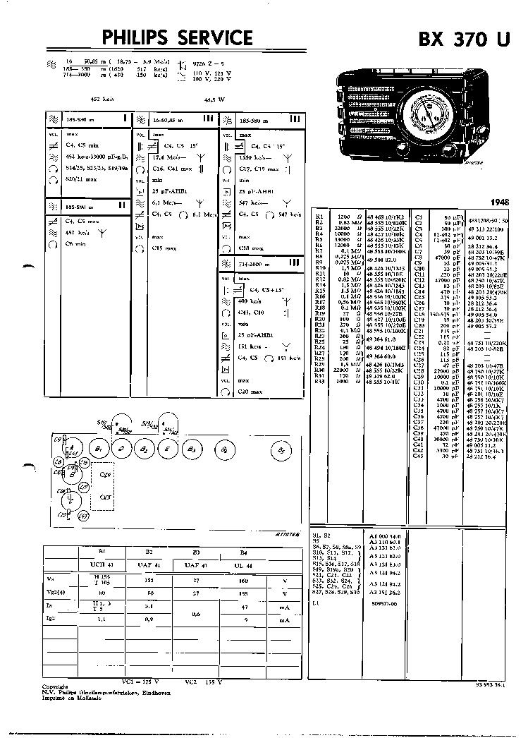 PHILIPS B3X66U Service Manual free download, schematics