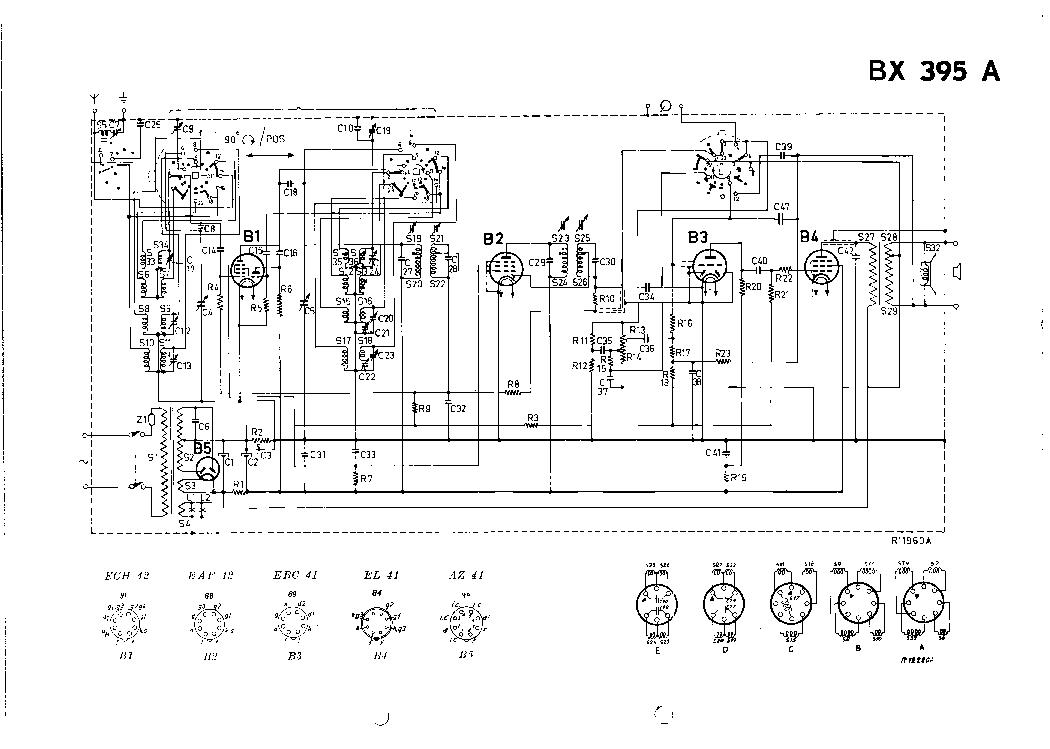 PHILIPS BX395A VINTAGE RADIO SM Service Manual download