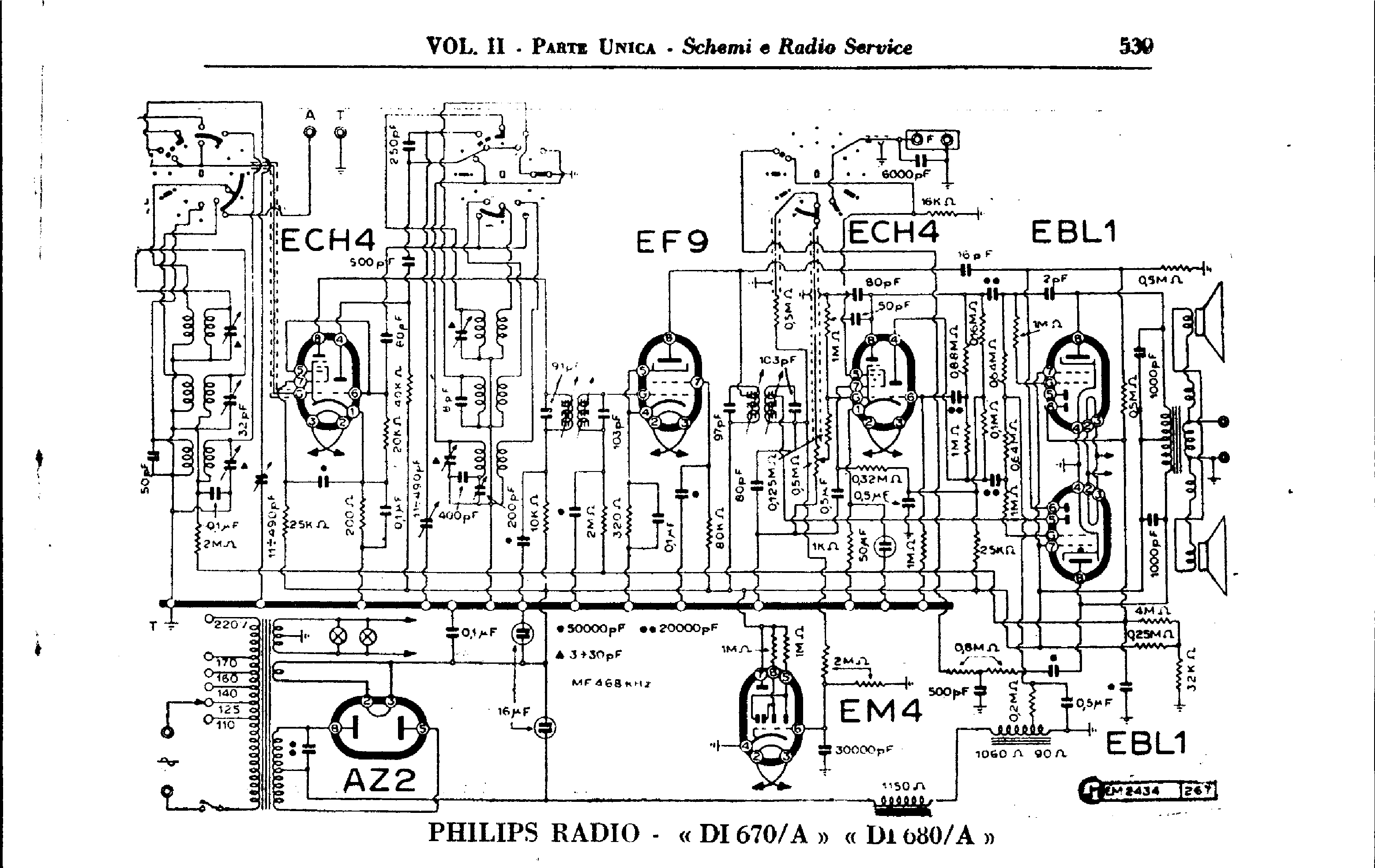 PHILIPS DI670A DI680A Service Manual download, schematics