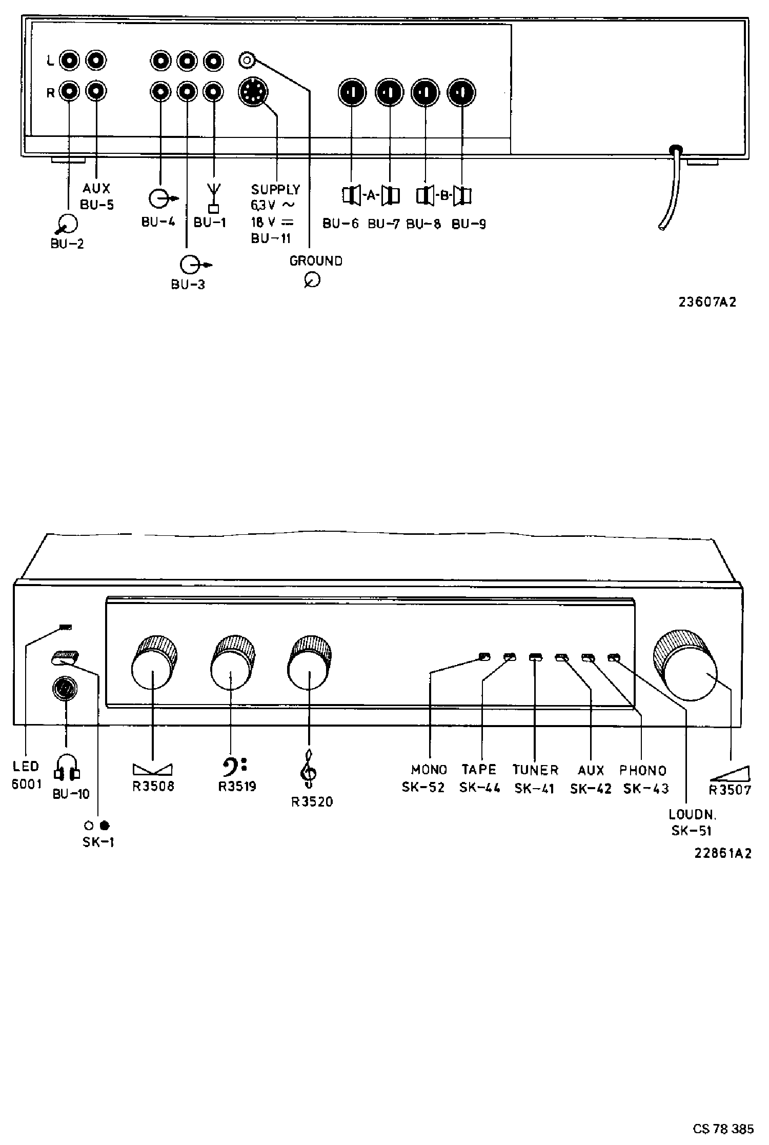 PHILIPS F4110-00-05 2X20W AMPLIFIER SM Service Manual