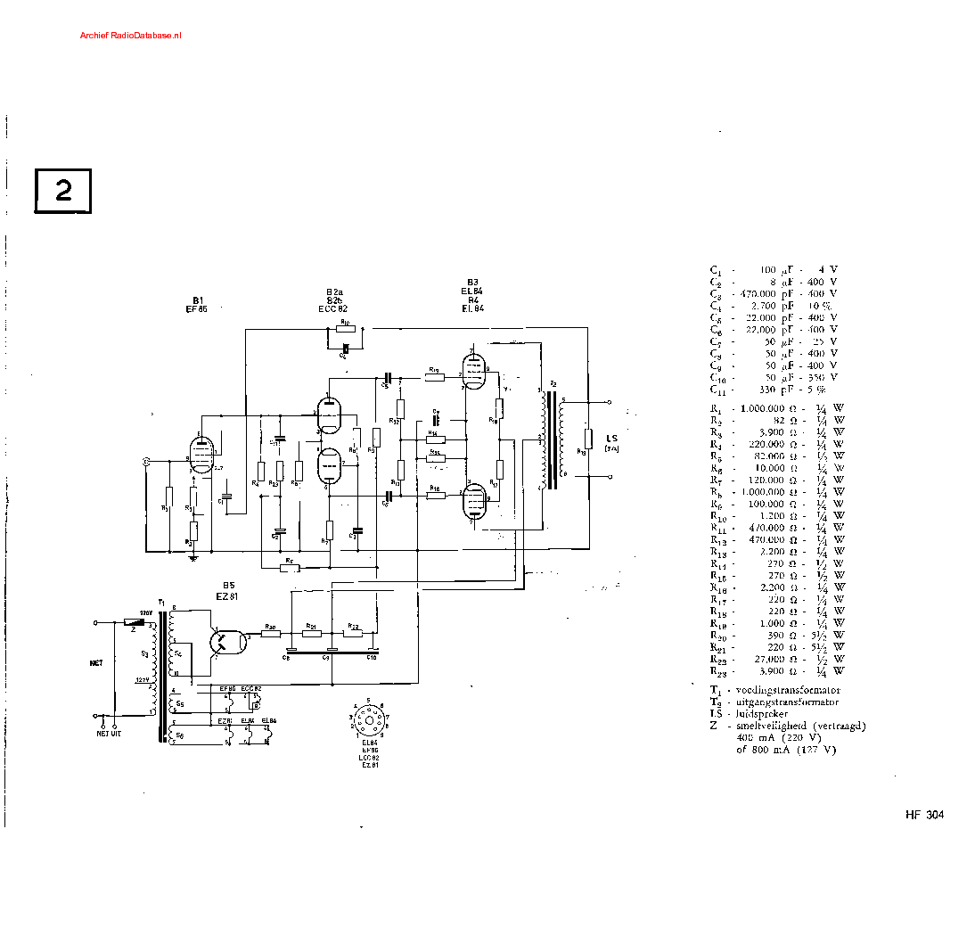PHILIPS HF304 Service Manual download, schematics, eeprom