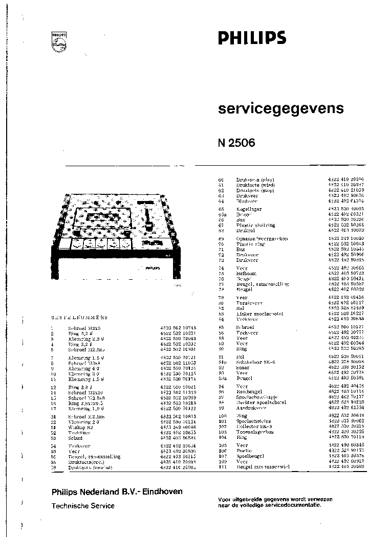 PHILIPS N4416 DE Service Manual download, schematics