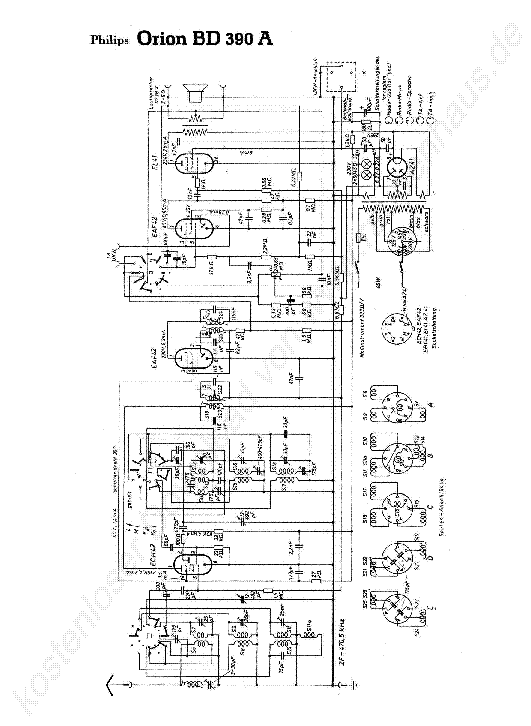 PHILIPS ORION BD 390 A Service Manual download, schematics