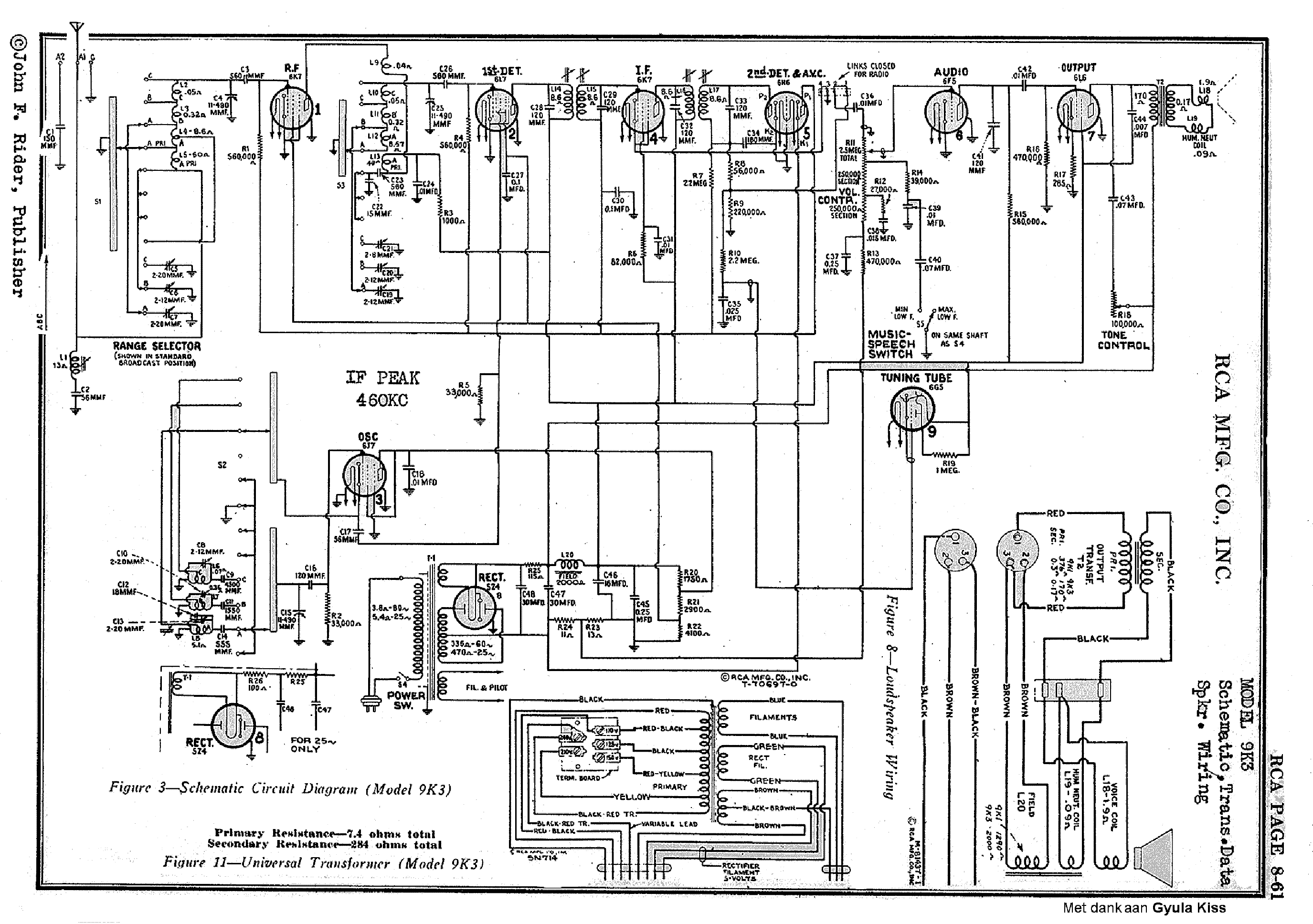Rca 9k3 Ac Super Radio Sch Service Manual Download