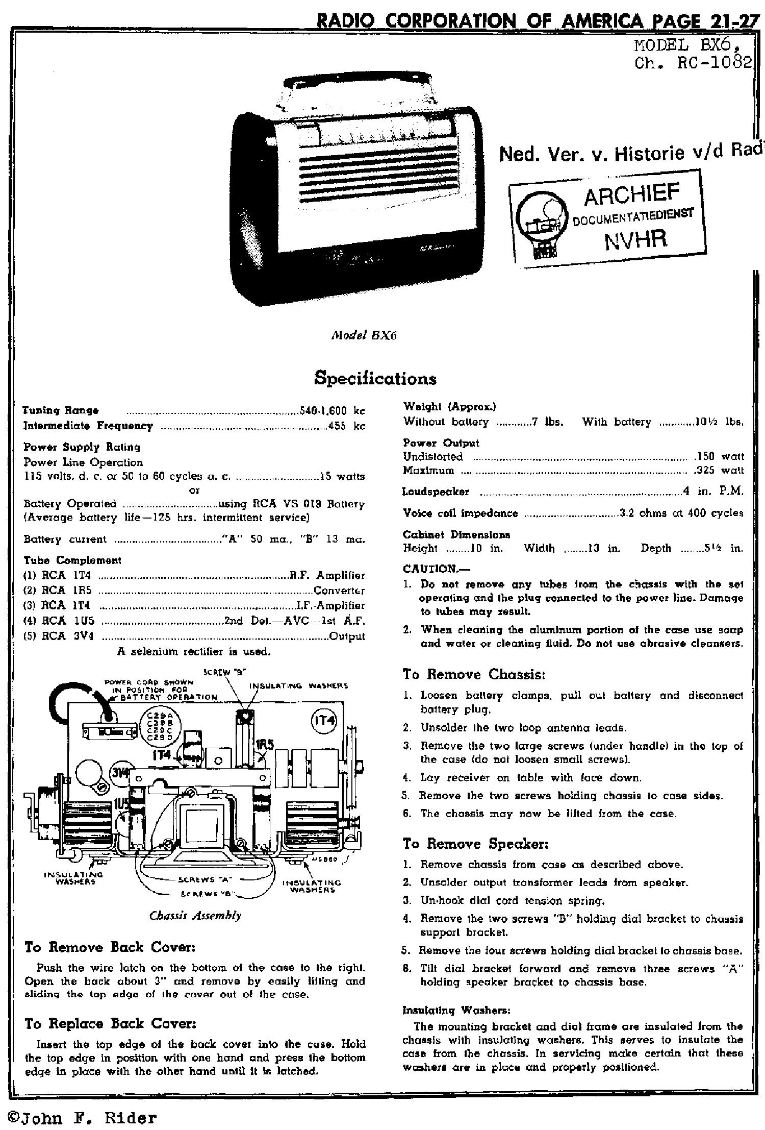 RCA VICTOR 5QB43 5QR75X SM Service Manual download