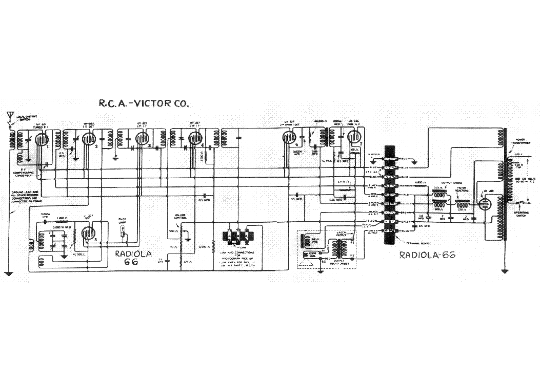 214 Rca Radio Schematic. Wiring. Wiring Diagrams Instructions