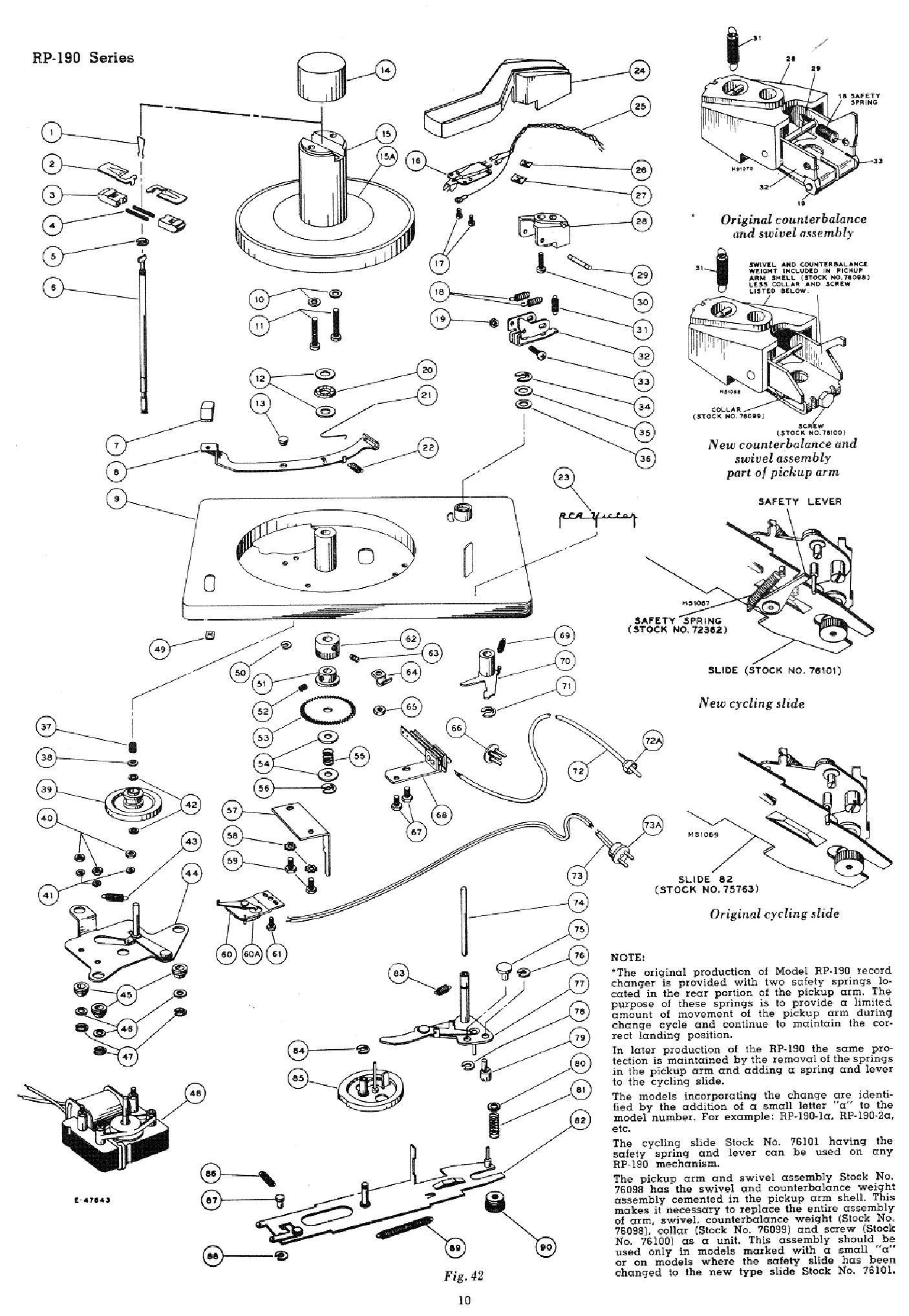 RCA RP-190-SM Service Manual download, schematics, eeprom
