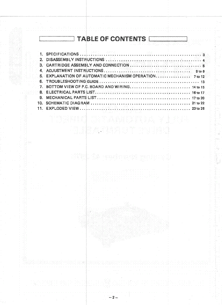 medium resolution of realistic lab 420 turntable service manual 2nd page