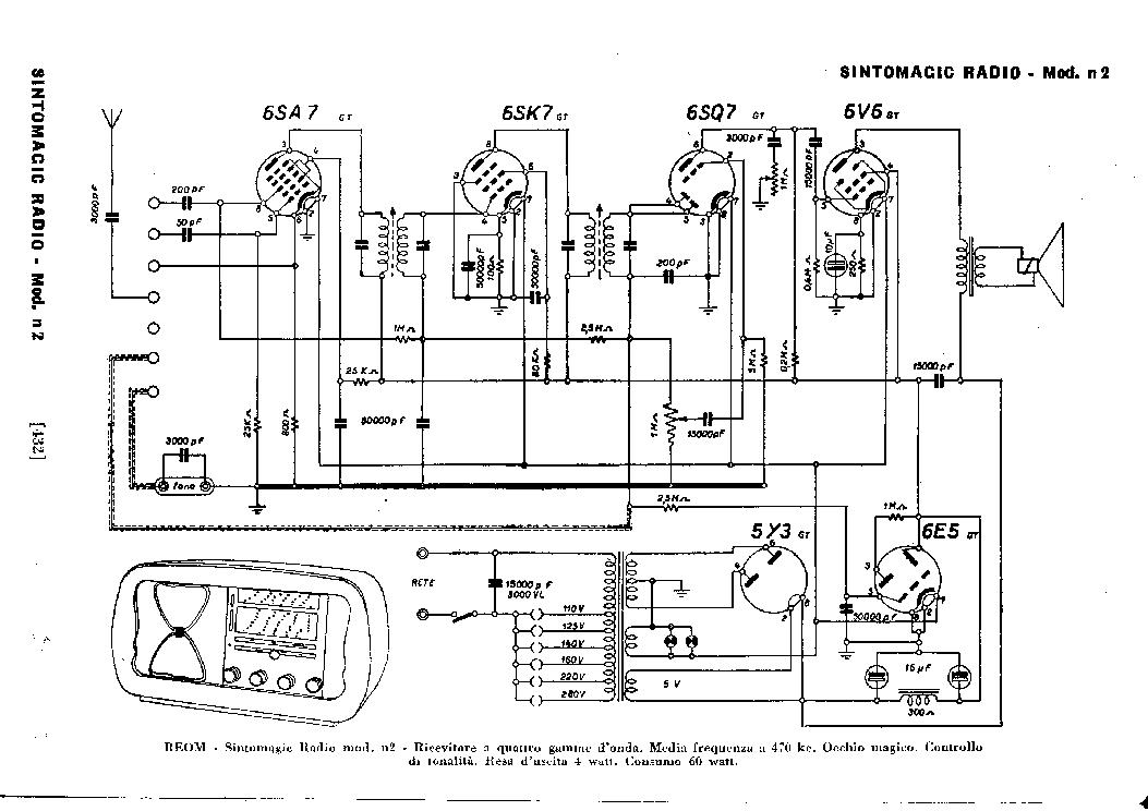 REOM SINTOMAGIC A1 A2 AM RADIO RECEIVER SCH Service Manual