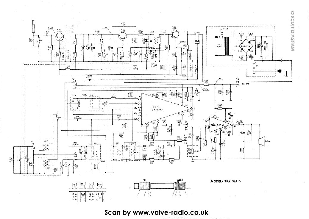ROBERTS R24 AM FM RADIO SM Service Manual download