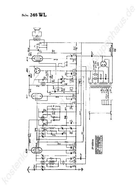 SABA 330 WL RADIO REGI 1934 SCH Service Manual free