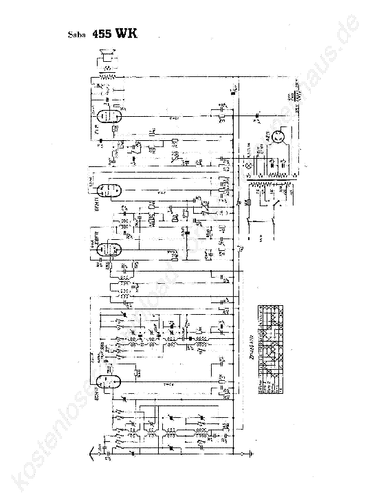 SABA SC-1010 SM Service Manual free download, schematics