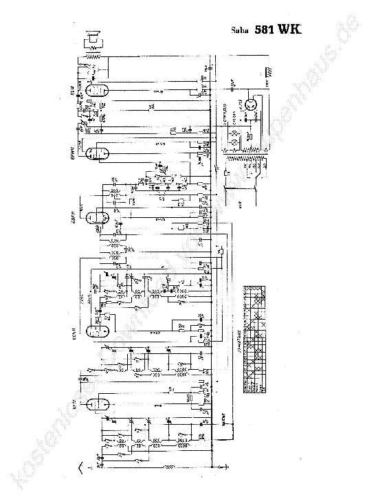 SABA 581 WK Service Manual download, schematics, eeprom