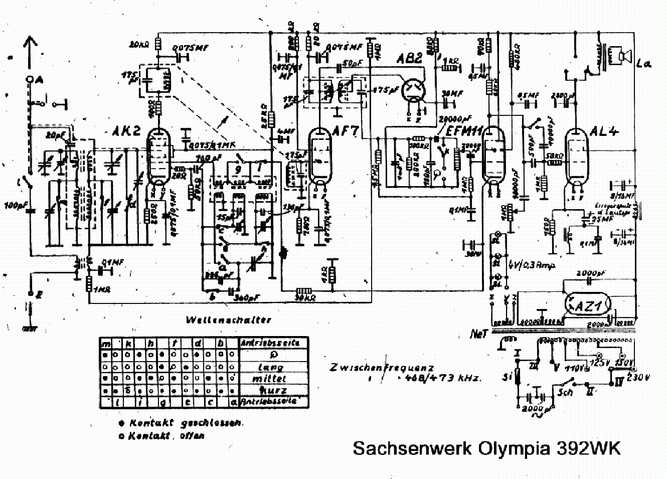 SACHSENWERK OLYMPIA-392WK Service Manual download