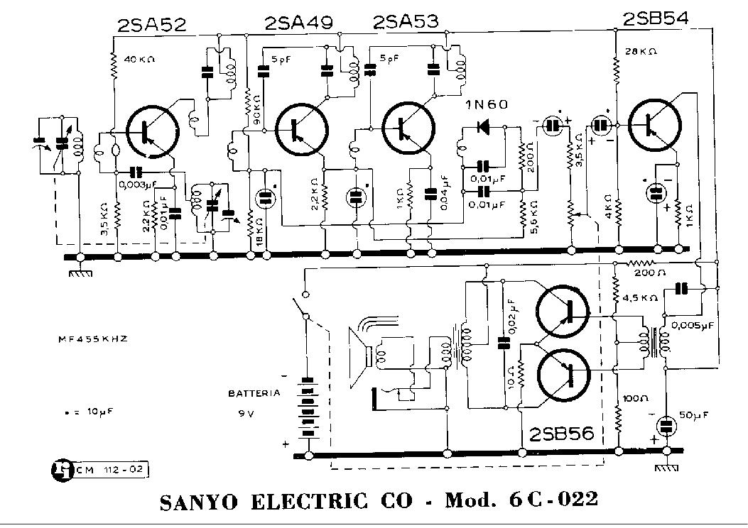 SANYO 6C-022 SCH Service Manual download, schematics