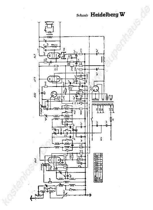 SCHAUB HEIDELBERG W RADIO 1935 SCH Service Manual download