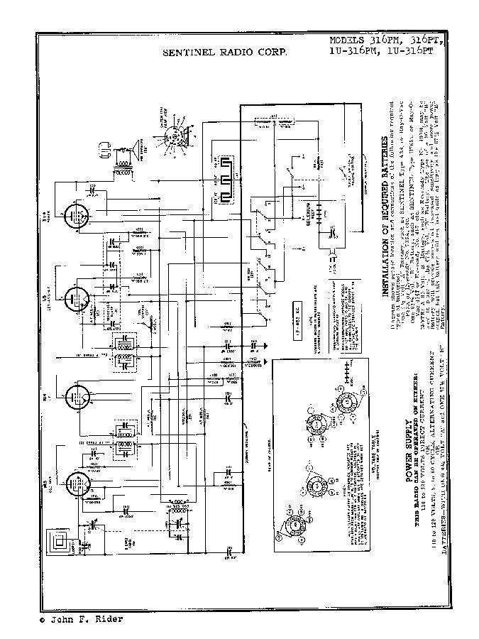 SENTINEL 316PM 316PT 1U-316PM 1U-316PT AC-DC BATTERY RADIO