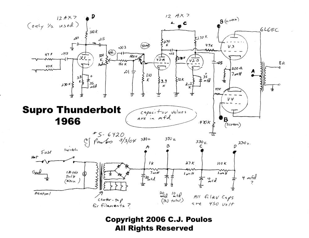medium resolution of supro thunderbolt s6420 sch service manual download schematicssupro thunderbolt s6420 sch service manual 1st