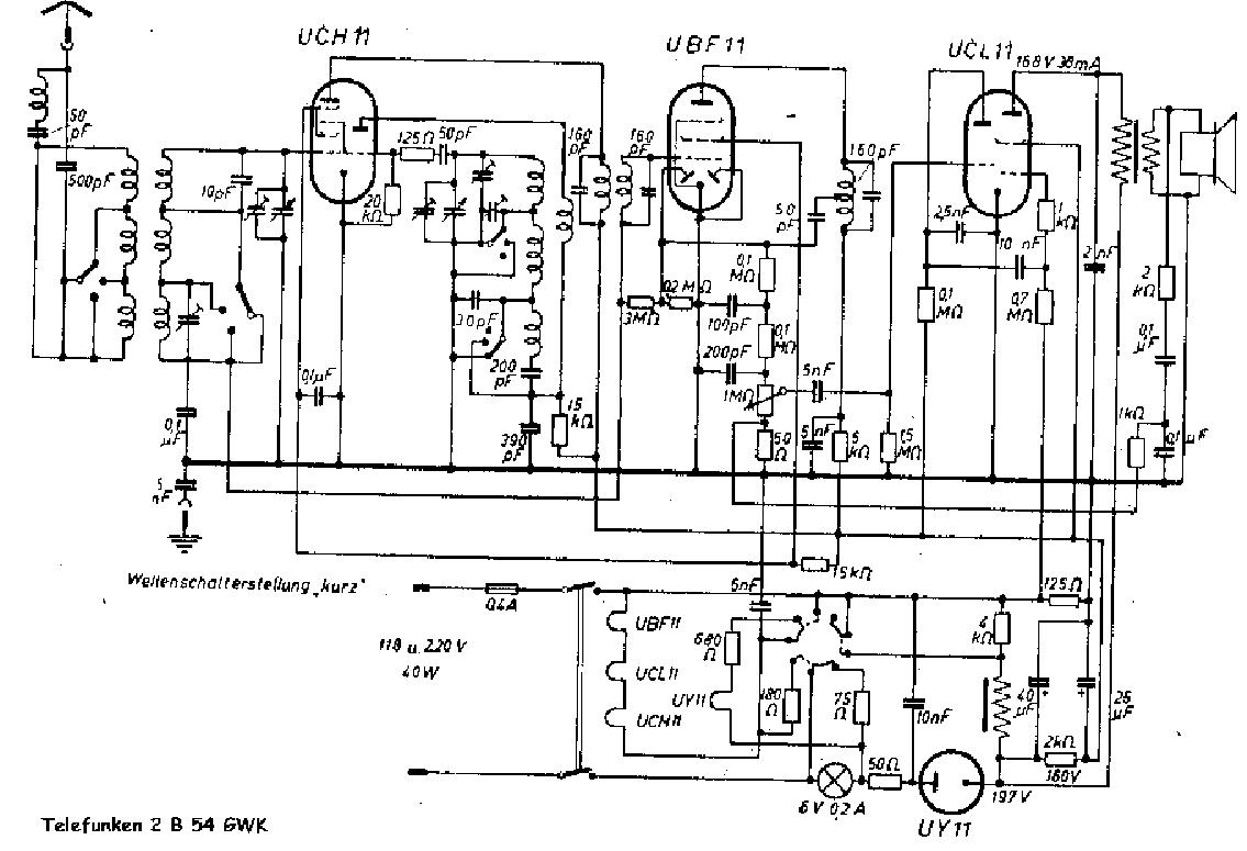 TELEFUNKEN 2B54GWK Service Manual download, schematics