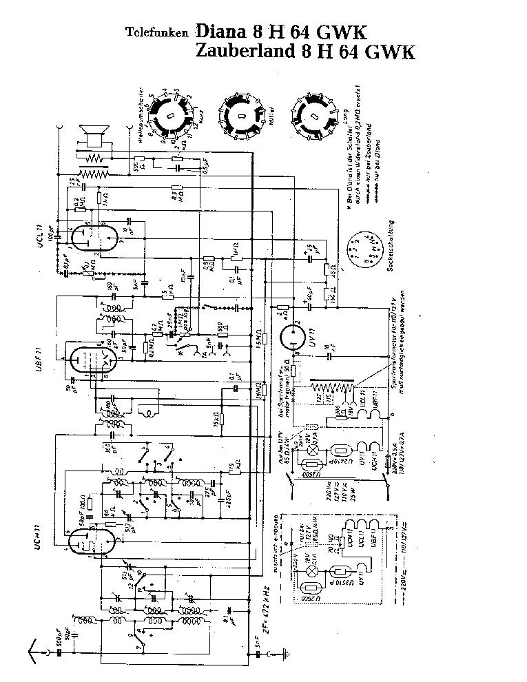 TELEFUNKEN DIANA-8 H-64 GWK SCH Service Manual download