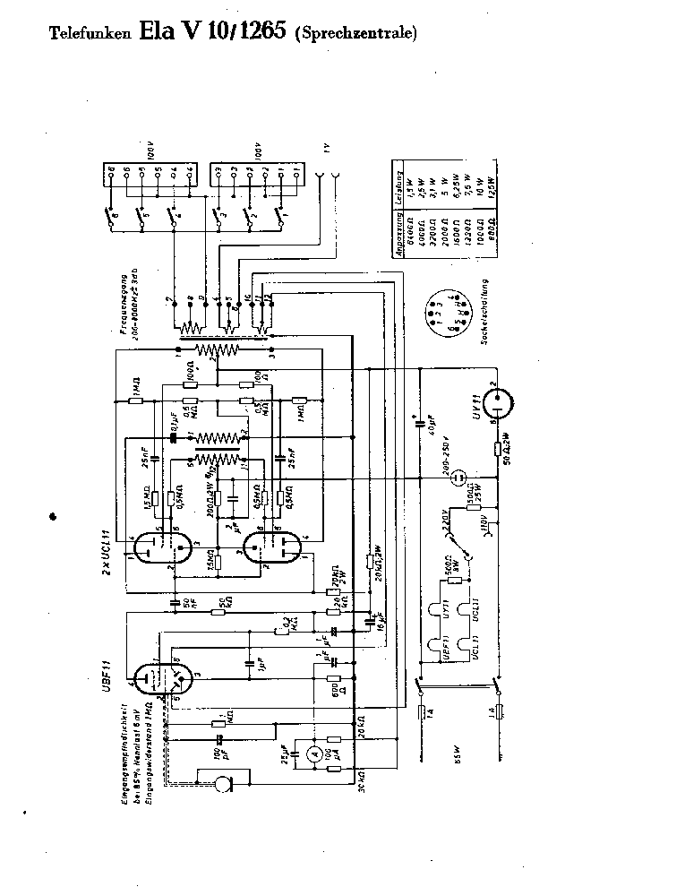 TELEFUNKEN GAVOTTE 301 SCH Service Manual download