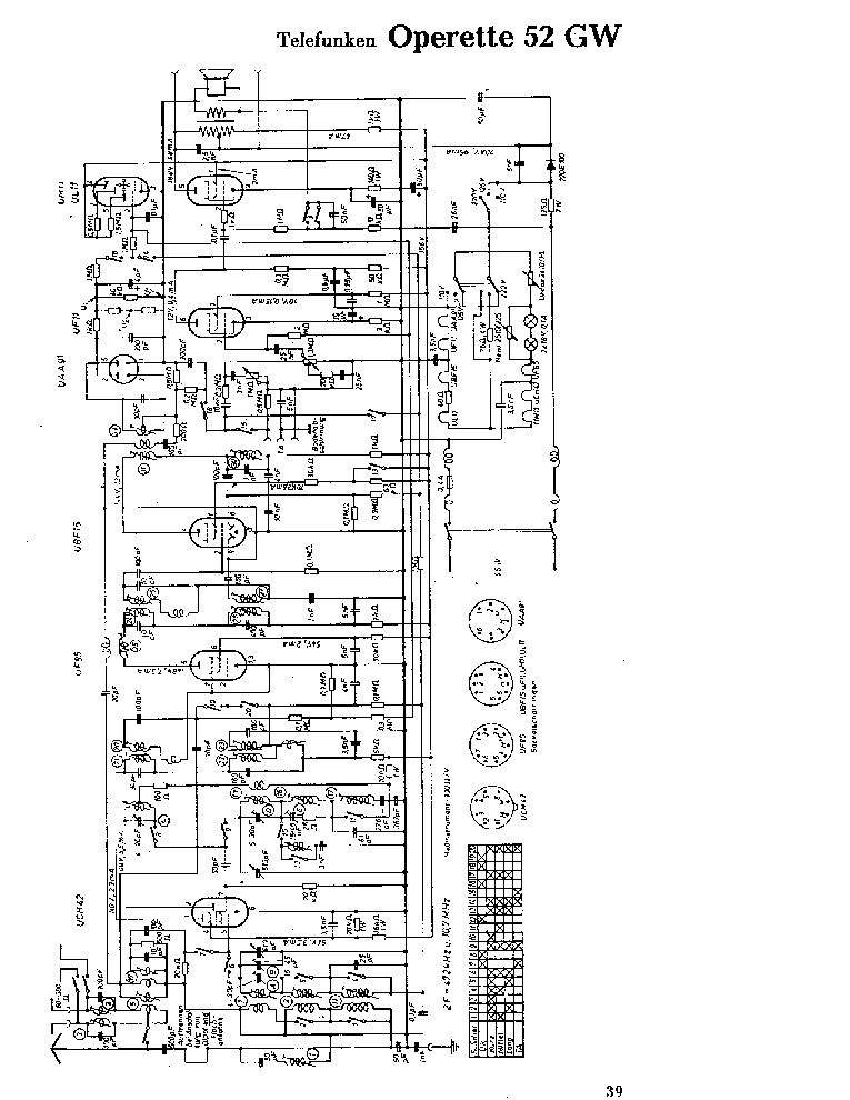 TELEFUNKEN OPERETTE-52-GW SCH Service Manual download
