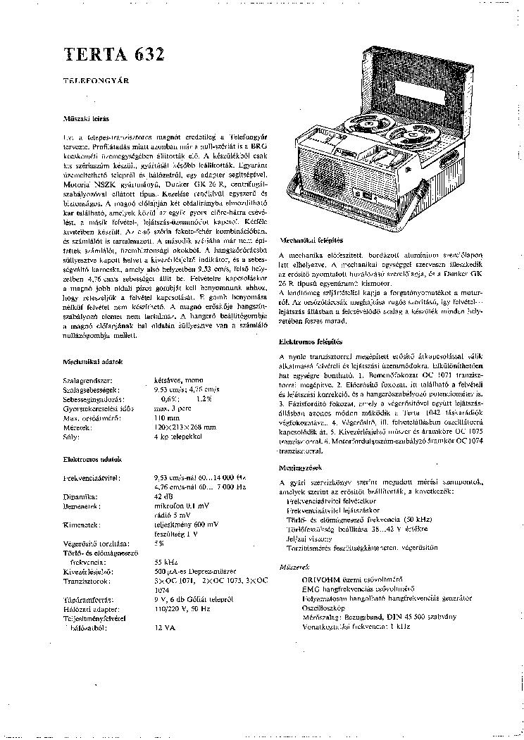TERTA T328 RADIO SCH Service Manual download, schematics