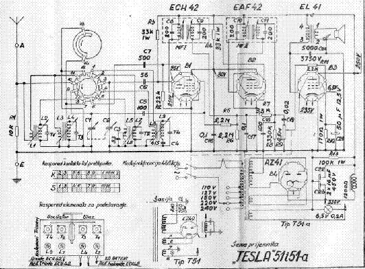 TESLA 51 51A Service Manual download, schematics, eeprom