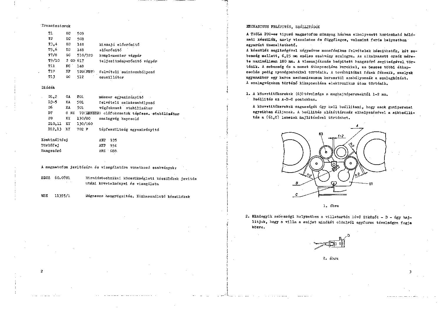 TESLA B90 SZERVIZKONYV Service Manual download, schematics