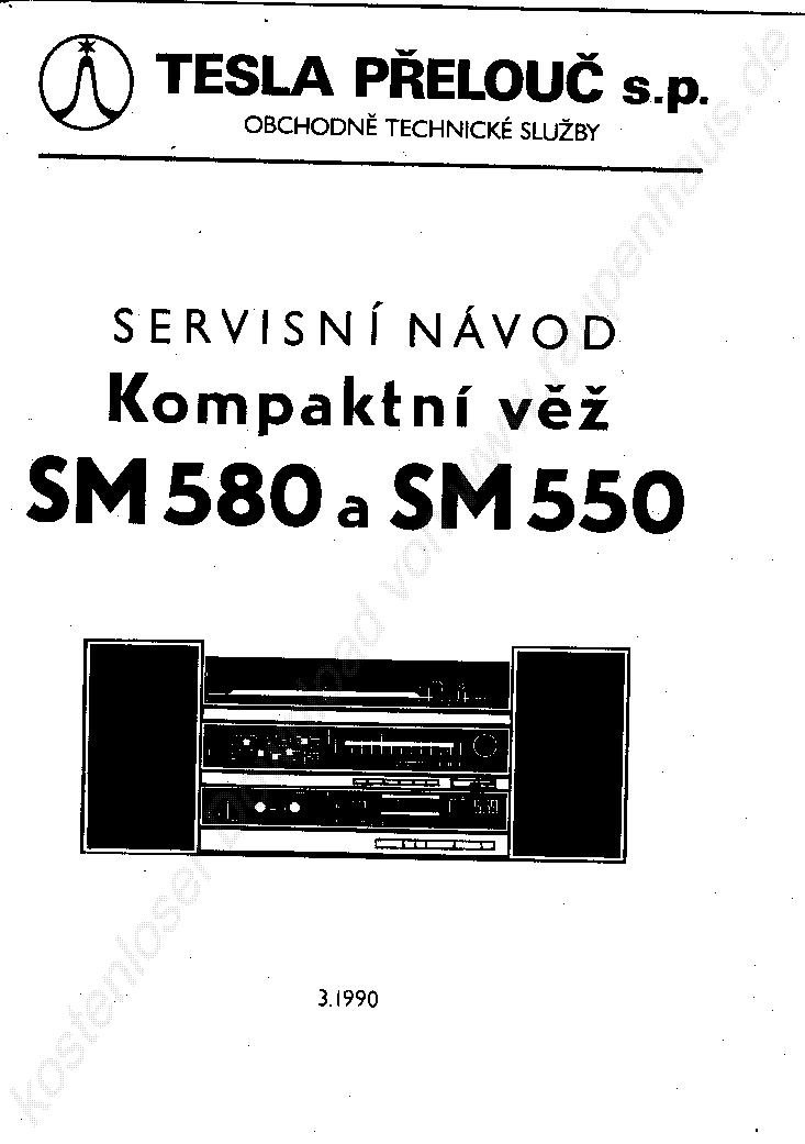 TESLA SM 580 SZTEREO RADIO RENDSZER 1990 SM Service Manual