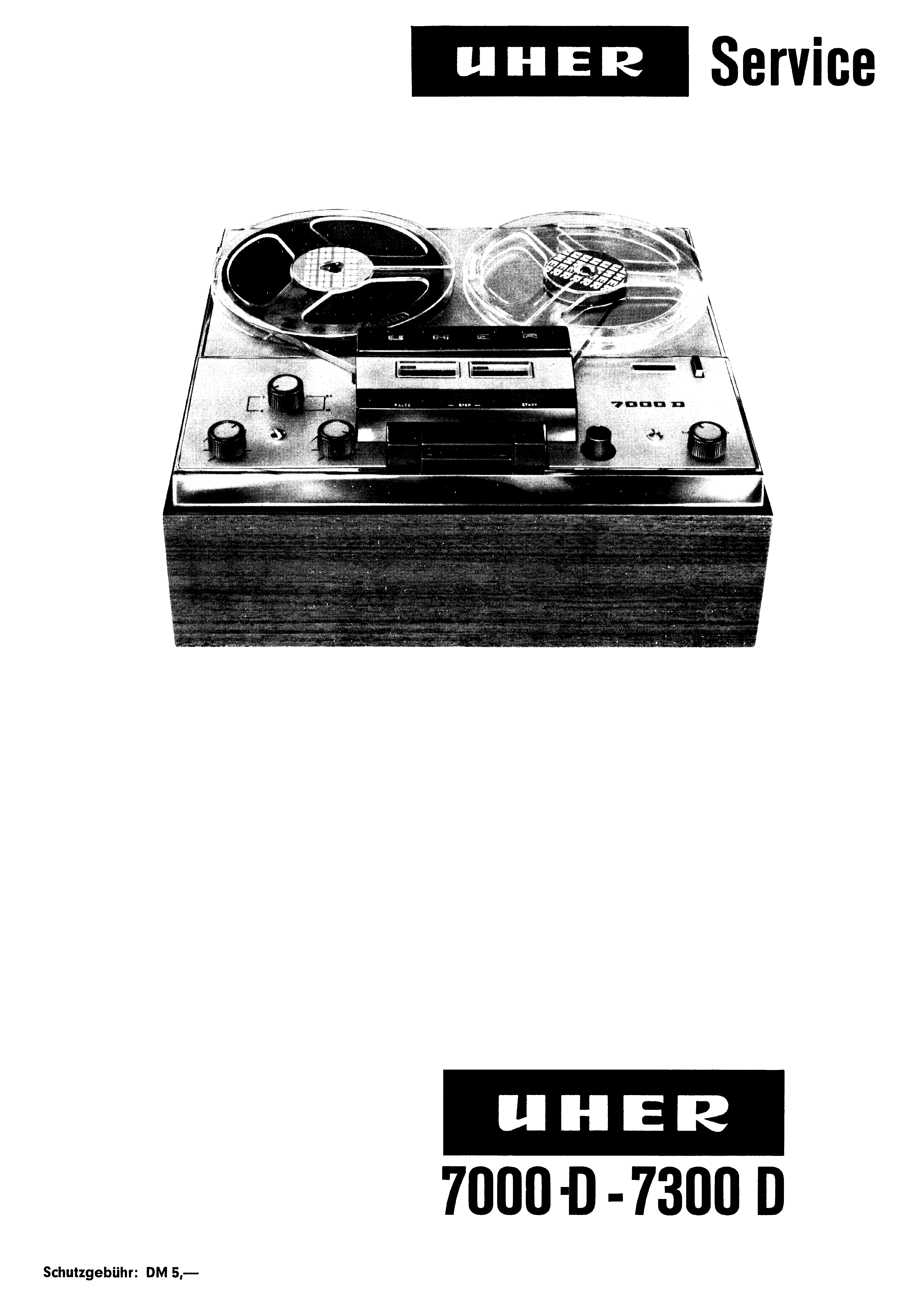 UHER 734 TAPE RECORDER SM Service Manual download