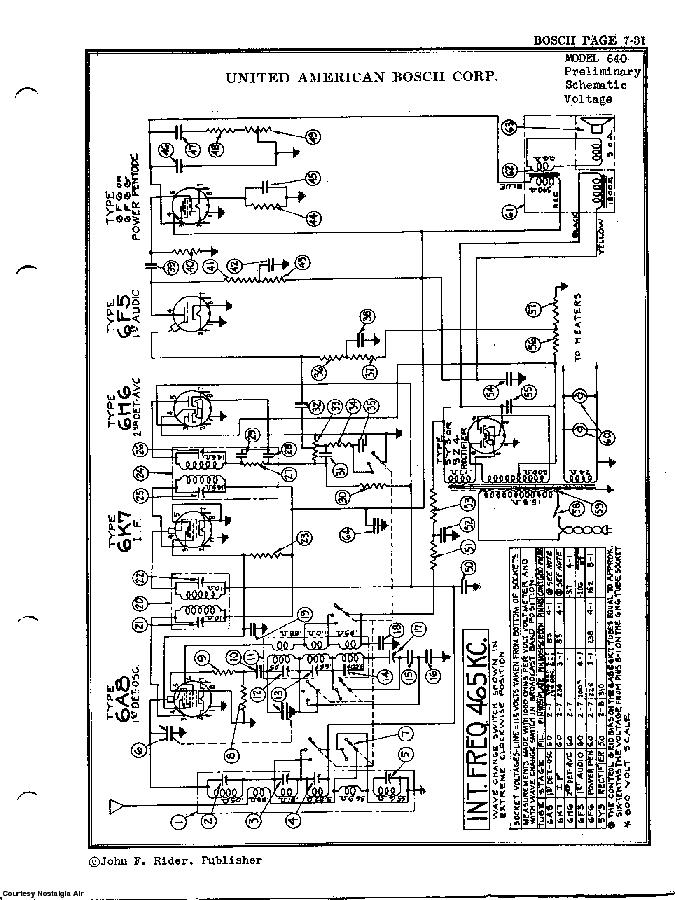 UNITED AMERICAN BOSCH 640 SCH Service Manual download