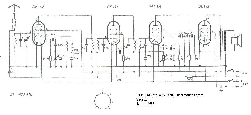 VEB SPATZ Service Manual download, schematics, eeprom