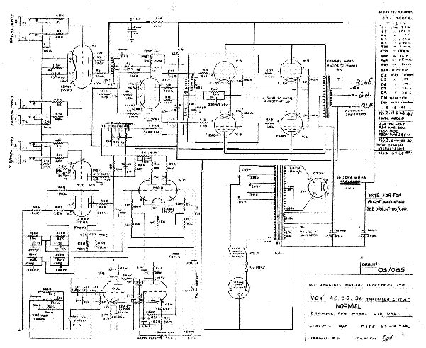 VOX VIGILANTE POWER-AMP-STAGE 100W-1990 SCH Service Manual