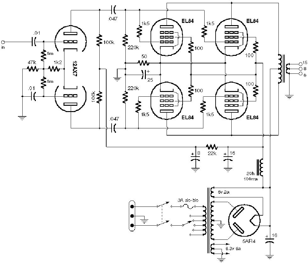 VOX AC30 STANDARD 1990 SCH Service Manual download
