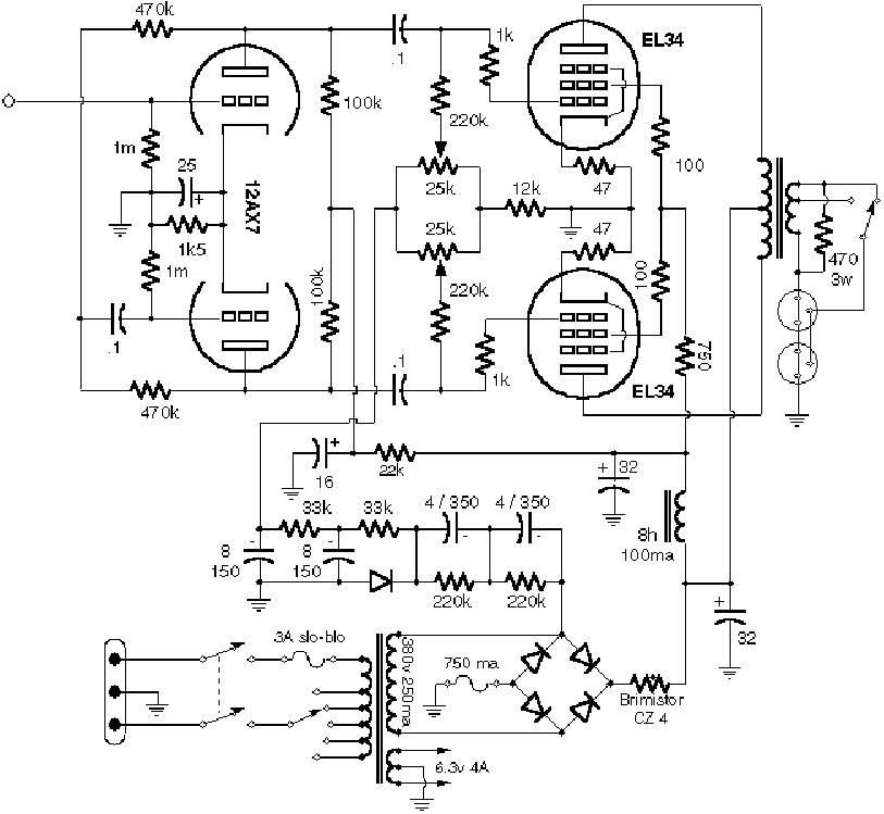 VOX AC15 1959 SCH Service Manual free download, schematics
