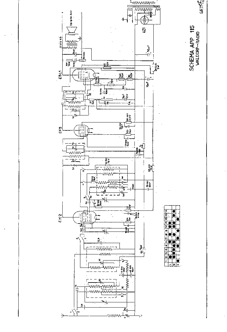 WALDORP 115 145 RADIO 1939 SM Service Manual download