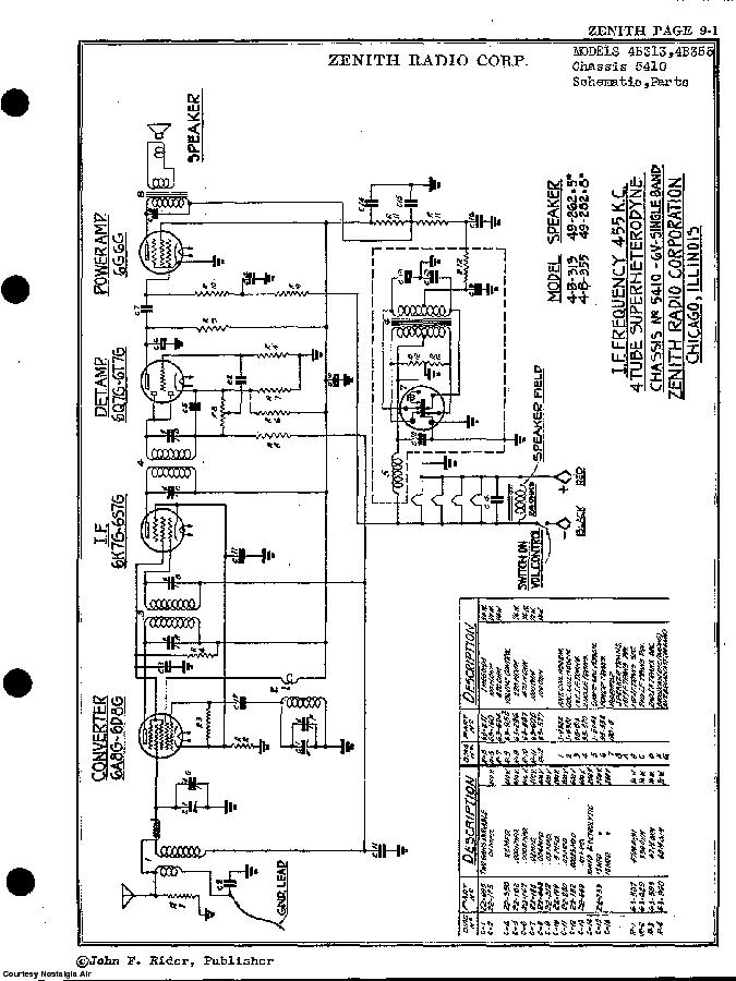 ZENITH 4B355 SCH Service Manual download, schematics